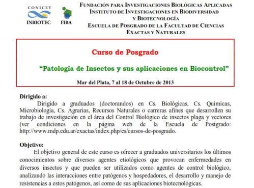2013 Curso Patología Insectos