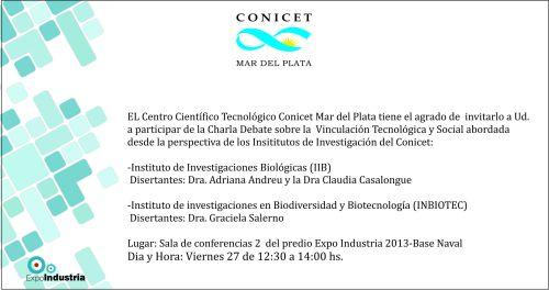 Charla Debate sobre la Vinculación Tecnológica y Social - Dra. Graciela Salerno INBIOTEC