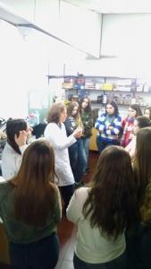 Marina y alumnos