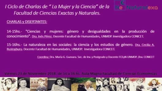 I Ciclo de Charlas La Mujer y La Ciencia